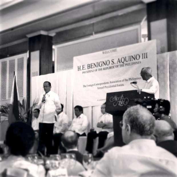 Benigno S. Aquino III en pleine action